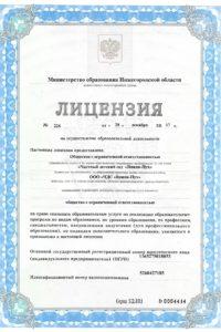 Лицензия детского сада, стр1